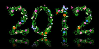 Number of flowers per year 2012 Royalty Free Stock Image