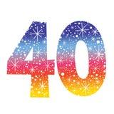 Number forty. Decorative celebratory design stock illustration