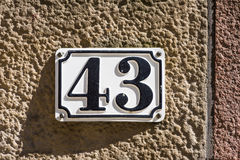 Number 43 Stock Photography