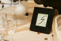 Number four. Table number four stock image