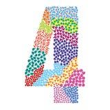 Number four. Alphabet  graphic illustration design Stock Photos