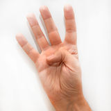 Number four in the American Sign Language (ASL) Royalty Free Stock Image