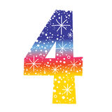 Number four Stock Image