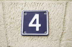 Number Four at home Stock Image