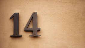 Number fourteen Royalty Free Stock Images