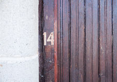 Number fourteen Stock Photography