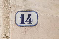 Number Fourteen Royalty Free Stock Image