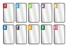 1-10 number frames Royalty Free Stock Image