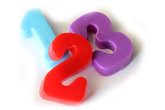 Number fridge magnets Royalty Free Stock Photography