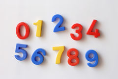 Number fridge magnets Stock Photo