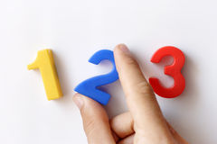 Number fridge magnets Royalty Free Stock Photo