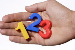Number fridge magnets Royalty Free Stock Images