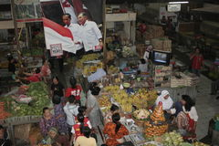 A number of Gede Market Traders Celebrate Victory Stock Photos