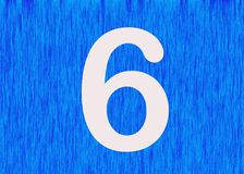 Meaning of number 6 in Chinese culture. The number 6 is generally considered to be lucky in China because it sounds like `liú`, which means `flow` in Chinese Royalty Free Stock Photos