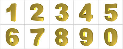 Number in gold Royalty Free Stock Photo