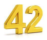 Number 42 stock images