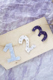 Number hanging on board Royalty Free Stock Image