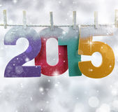 Number 2015 hanging on a clothesline Stock Image