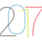 2017 number. Happy new year stylish design template Royalty Free Stock Image