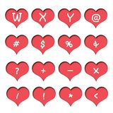 Number of hearts. Stock Image