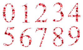 Number of hearts vector illustration Stock Photo