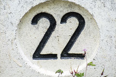 Number 22 Royalty Free Stock Images