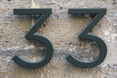 Number 33 Stock Image