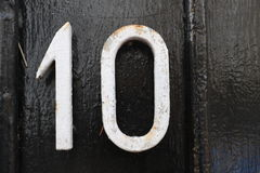 Number 10. House number 10 in the city of Saint Cloud, France Stock Photography