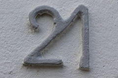 Number 21. House number 21 in the city of Saint Cloud, France Stock Photography