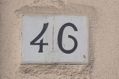 46 number Stock Photo