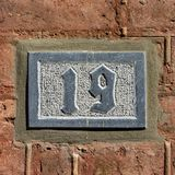House number 19 royalty free stock images