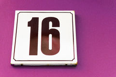 Number 16 Stock Photography