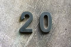House number 20 royalty free stock images