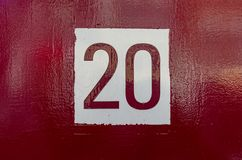House number 20 royalty free stock photo