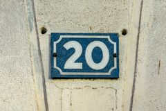 House number 20 royalty free stock image