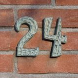 House Number 24. House number twenty four 24 royalty free stock images