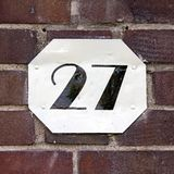 House number 27 royalty free stock image