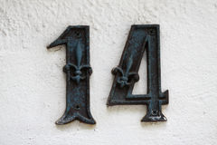 Number 14 Stock Image