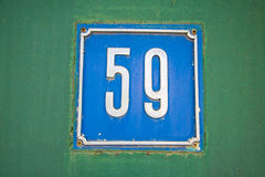 Number 59 Stock Photography