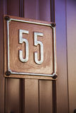 Number 55 Stock Photo