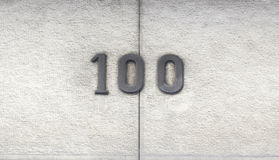 Number hundred in a house Stock Photos