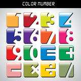 Number icon with many colors. For design royalty free illustration