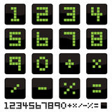 Number icons Stock Images