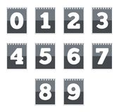 Number icons Royalty Free Stock Photos