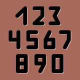 Number icons. Vector set vector illustration