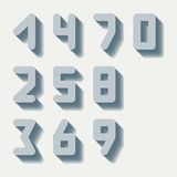 Number icons. Vector set Stock Images