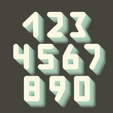 Number icons. Vector set. vector illustration