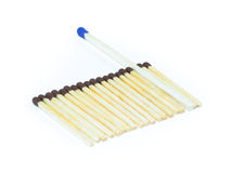 A number of identical matches and one which differ Stock Photography