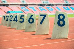 The number identifies the channel track runner royalty free stock images