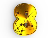 8 number illustration. Royalty Free Stock Photos